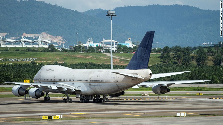 A Boeing 747-200F plane with the registration number TF-ARM is seen parked on the tarmac at Kuala Lumpur International Airport (KLIA) in Sepang