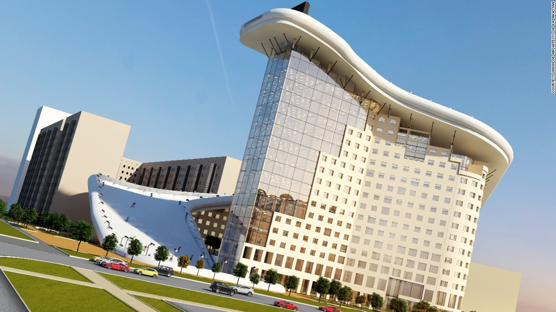 If built, Slalom House would be just one of an increasing number of impressive structures in Astana.