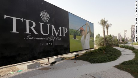 The Trump Organization is building the Trump International Golf Club Dubai in the United Arab Emirates.
