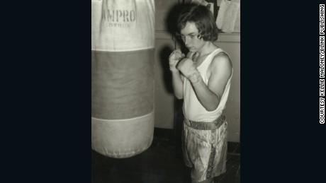 Kellie Maloney -- then Frank -- boxing as a teenager in 1960s.
