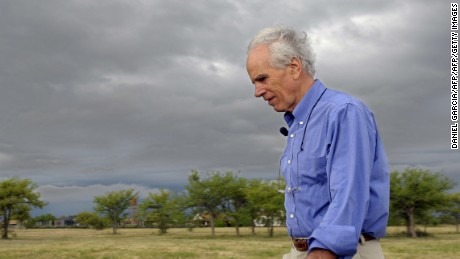 "TO GO WITH AFP STORY US billionaire Douglas Tompkins walks in his property in Ibera, near Carlos Pellegrini in Corrientes Province, Argentina, on November 5, 2009. The founder of the clothing brand North Face, Tompkins, converted into ecology activist and committed to the vastness of the marshes in the heart of the province of Corrientes, the scene of a ""green war"" with the farmers. AFP PHOTO/DANIEL GARCIA (Photo credit should read DANIEL GARCIA/AFP/Getty Images)"