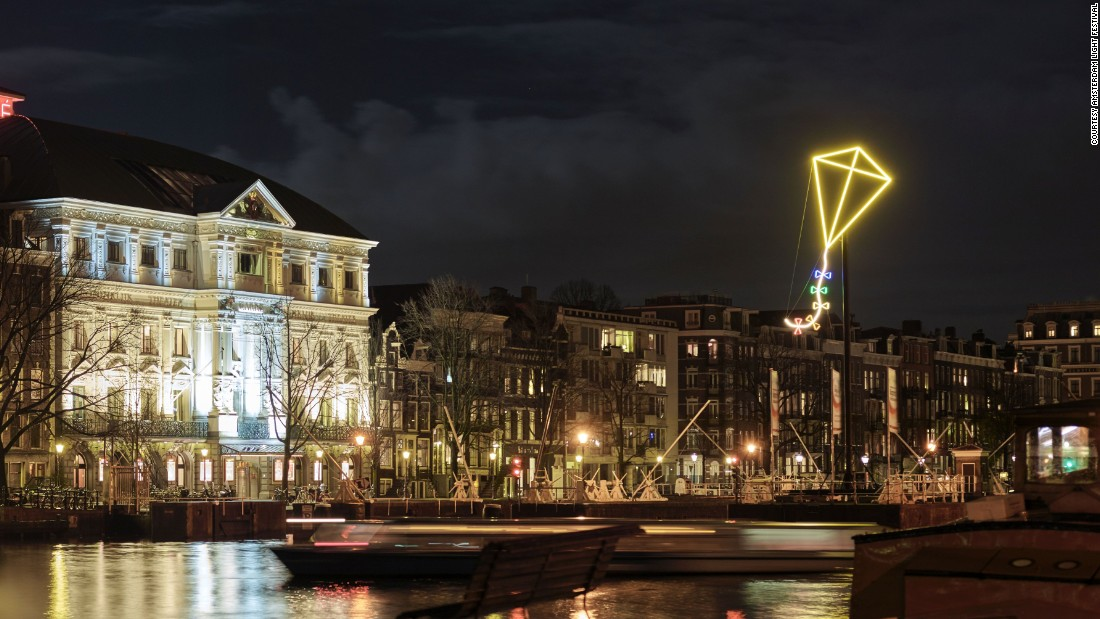 The festival features light installations that have been created in collaboration with international artists.