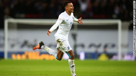 Alli scored his first goal for England in last month's 2-0 win against France