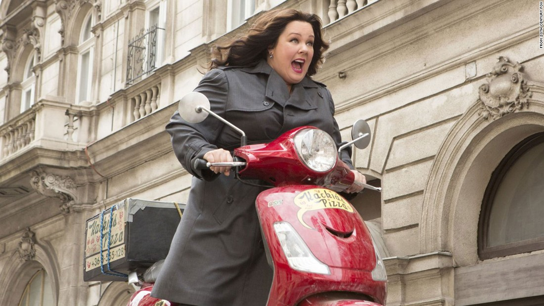 """Spy"" earned Melissa McCarthy a nomination for best performance by an actress in a musical or comedy. Also nominated are Jennifer Lawrence (""Joy""), Amy Schumer (""Trainwreck""), Maggie Smith (""The Lady in the Van"") and Lily Tomlin (""Grandma"")."