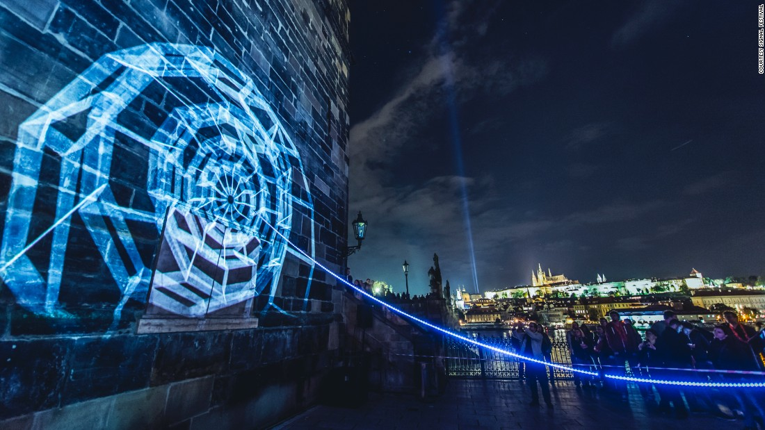 SIGNAL festival is a festival of light that takes place annually in Prague, featuring installations and collaborations with international artists.
