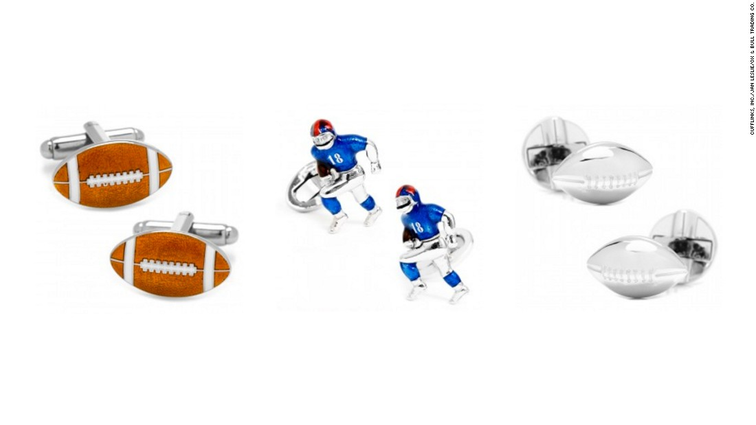 "<a href=""http://www.cufflinks.com/shopbydesigner/shop-all-nfl.html"" target=""_blank"">Football-themed cufflinks</a> are an inspired gift idea for the gridiron fan with high-fashion taste. Wearers can root for the ""Dirty Birds"" or ""Gang Green"" without saying a word. For an understated touch, team logos and leather footballs are available, too, from <a href=""http://www.cufflinks.com/"" target=""_blank"">Cufflinks.com</a>."