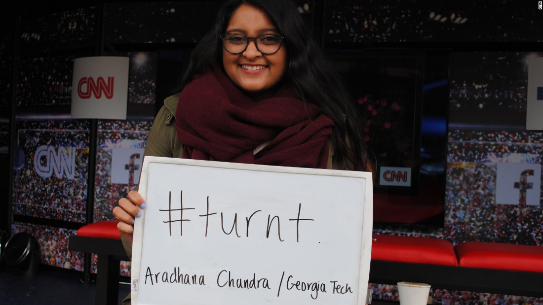 "How does Aradhana from Georgia Tech describe this election cycle? ""Turnt."""