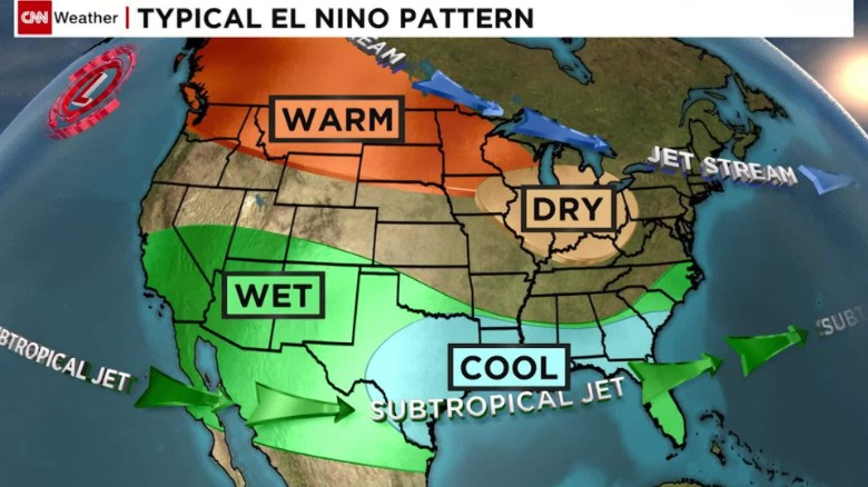 El Nino hits California with heavy rain