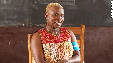Kidjo in Benin with Unicef, with whom she has been a Goodwill Ambassador since 2002