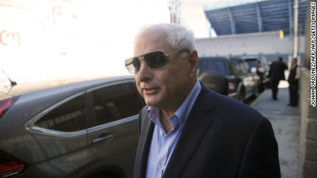 Panamanian former president  and deputy of the Central American Parliament (Parlacen) Ricardo Martinelli leaves the Parlacen building after a meeting, in Guatemala City on January 28, 2015. AFP PHOTO Johan Ordonez        (Photo credit should read JOHAN ORDONEZ/AFP/Getty Images)