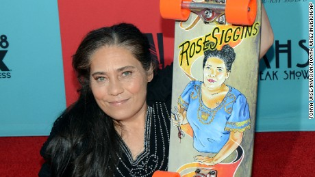 "Rose Siggins attends the premiere screening of ""American Horror Story: Freak Show"" at the TCL Chinese Theatre in Los Angeles."