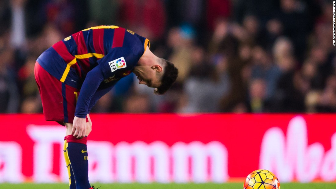 Lionel Messi finds it hard to come to terms with Deportivo La Coruna's late fightback.