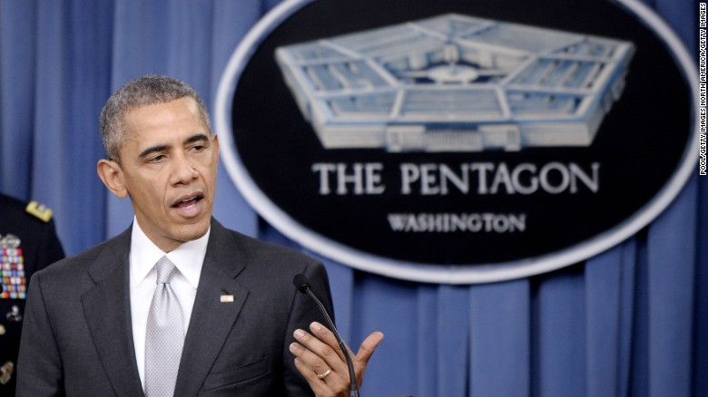 Obama meets with nat'l security team at the Pentagon