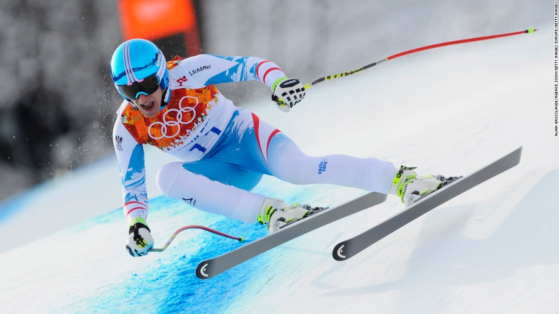 Austria's Matthias Mayer won the downhill gold medal at Sochi.