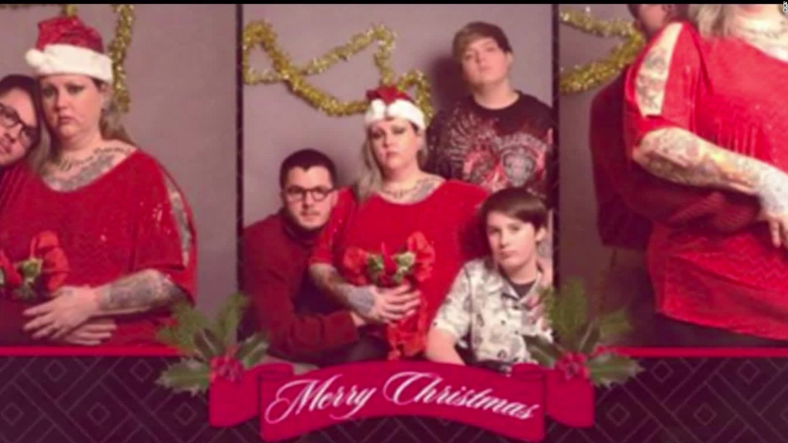Man creates fake Christmas card to scare his family - CNN Video
