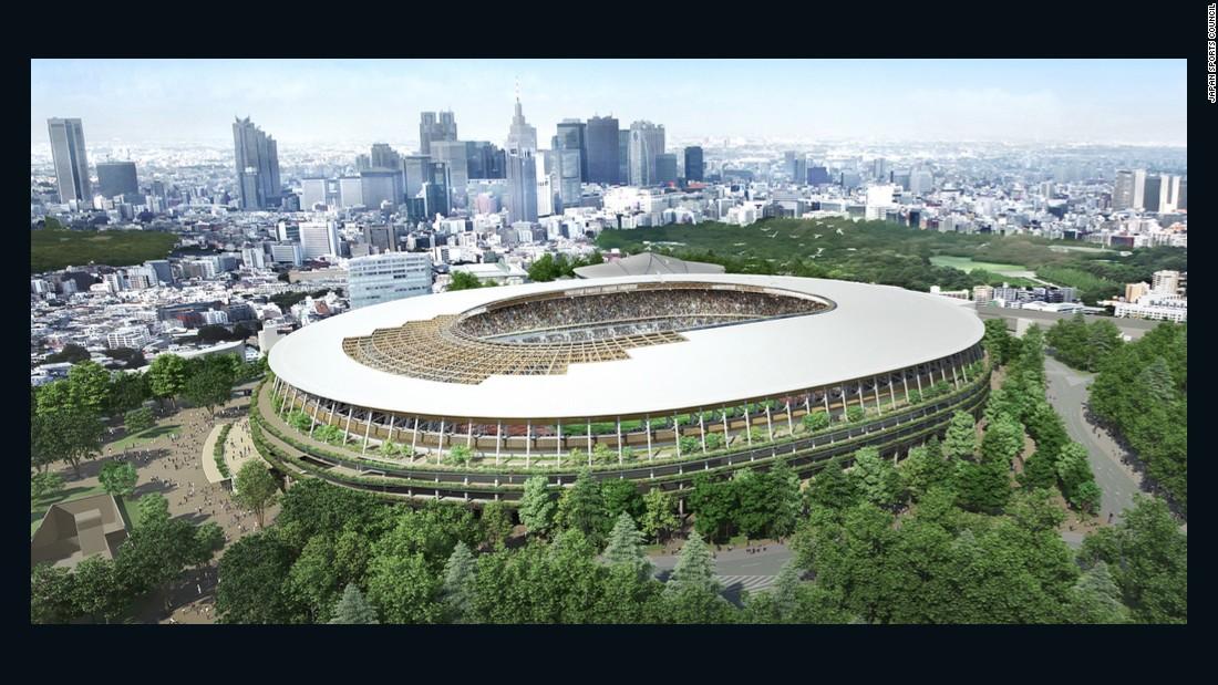 Japan unveils design for 2020 Olympic stadium ... again