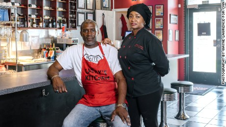 Jerome and Cathy Jenkins, at Cathy's Kitchen, one of their two restaurants