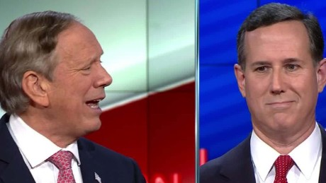 Rick Santorum George Pataki cnn gop debate women combat military 8_00020310.jpg