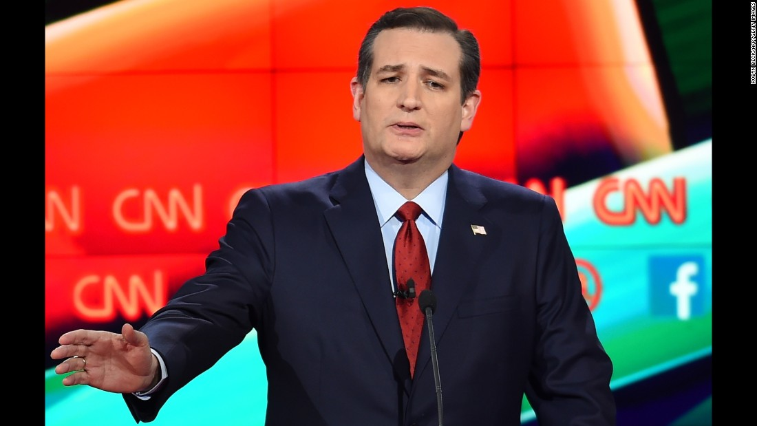 "Cruz, the junior U.S. senator from Texas, has been gaining in the polls recently. ""We need a President who understands the first obligation of the commander-in-chief is to keep America safe,"" he said in his opening remarks. ""If I am elected President, we will hunt down and kill the terrorists. We will utterly destroy ISIS."""