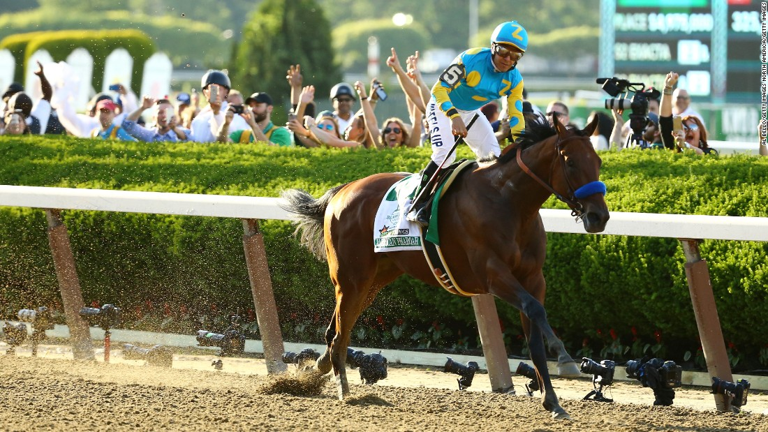 """There was a lot of pressure for everybody else this year but not for me -- it was all about the confidence I have in American Pharoah,"" the Espinoza told CNN. ""I always thought that if I could win the Kentucky Derby I 'll be on cruise control for the next two -- and that's what happened."""