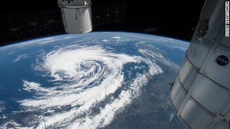 Astronaut Scott Kelly captured this photo, from the International Space Station, of Tropical Storm Anna off the southeastern coast of the United States on May 8, 2015.