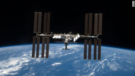 Inflatable BEAM habitat attached to space station