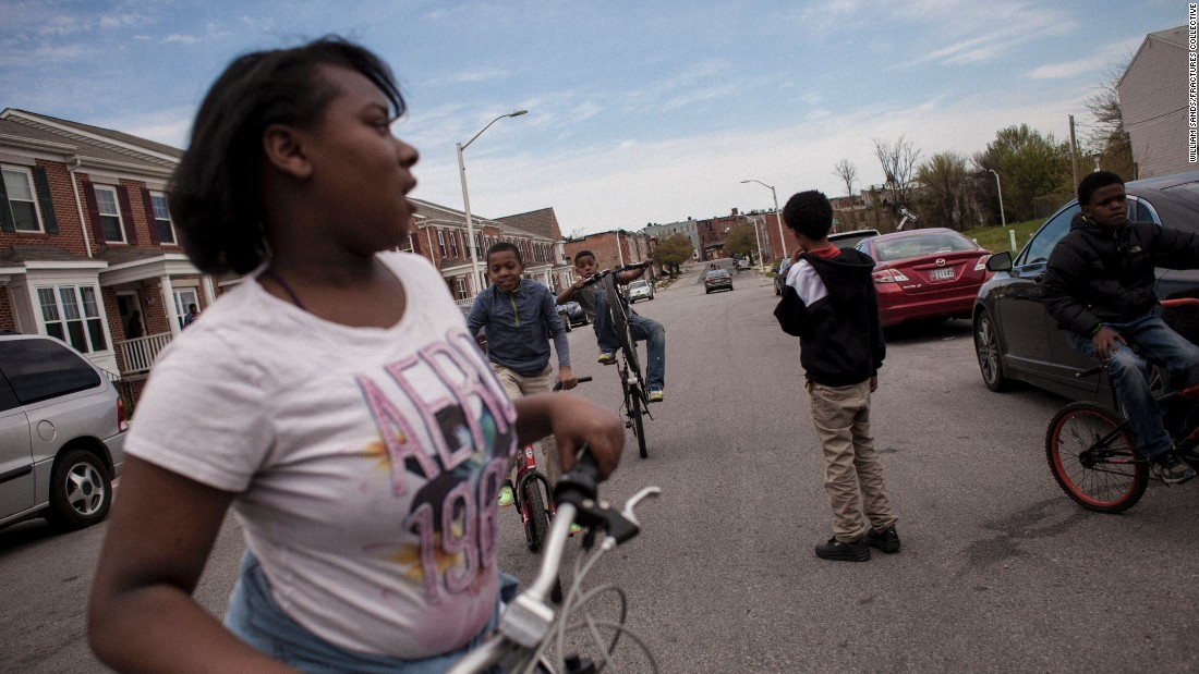 Children play in the streets of West Baltimore.