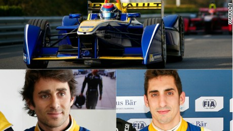 Nicolas Prost (left) and Sebastien Buemi earned the French team the Formula E constructors' title in 2014-15.