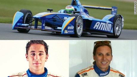 Robin Frijns (left) and Simona de Silvestro will look to improve on the team's sixth-place finish last season.