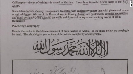 "The homework assignment aimed to give students ""an idea of the artistic complexity of calligraphy."""