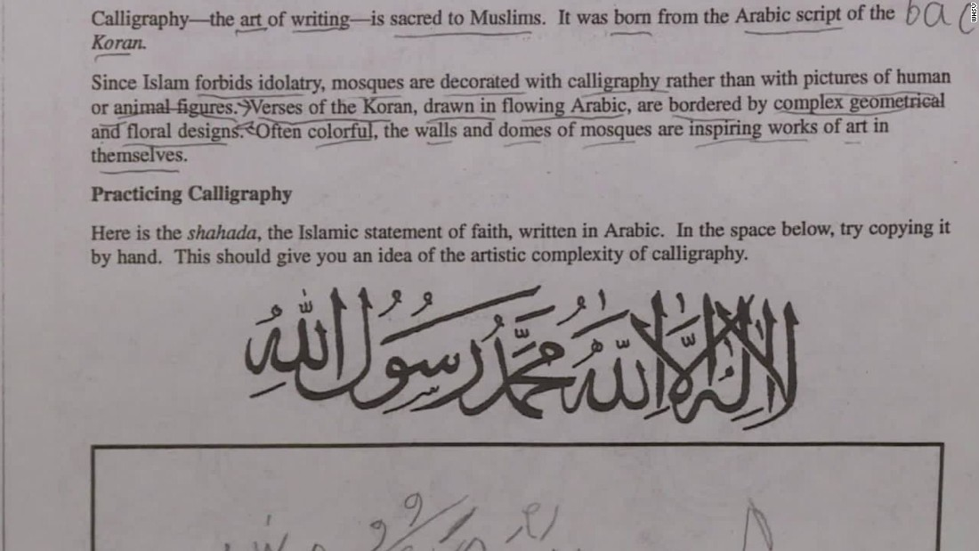 All schools shut down in Augusta County, Virginia, over Islam homework