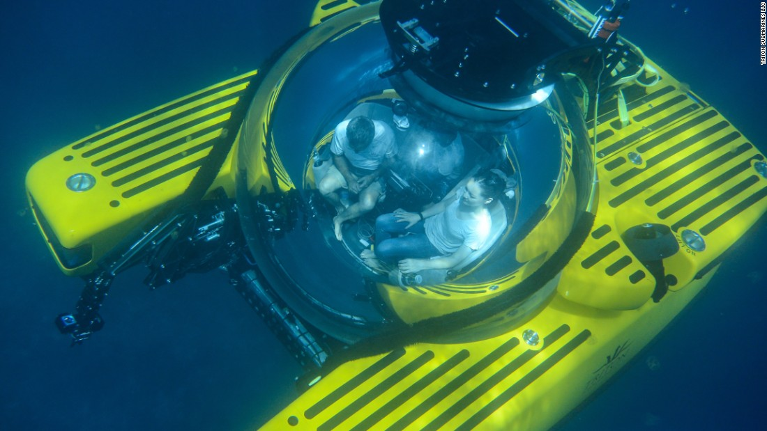 "<a href=""http://tritonsubs.com/submersibles/triton-3300-3/"" target=""_blank"">Triton's 3300/3</a> submarine is the company's most popular model. It seats a pilot and two passengers and dives to 3,300 feet. A more sophisticated Triton model was recently used by undersea explorer David Attenborough to explore Australia's Great Barrier Reef."