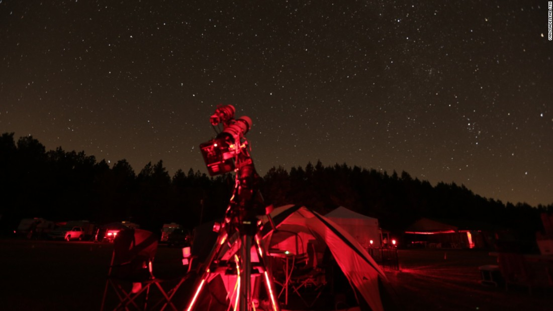 During the annual star party, hundreds of amateur astronomers stay up all night observing the night sky.