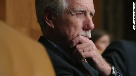 Sen. Angus King (I-ME) listens to testimony during a hearing on Capitol Hill on June 17, 2015.