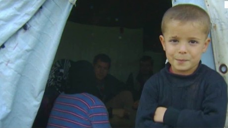 Life in a Syrian refugee camp near Russian air base