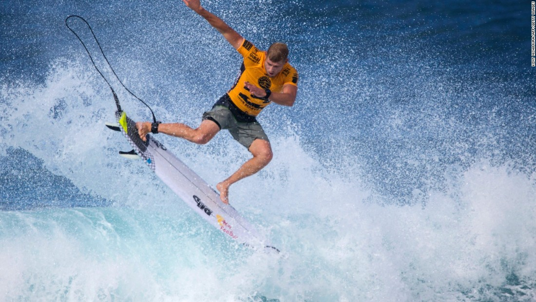 The Australian surfer's semifinal was overshadowed by the news of the death of his elder brother, Peter Fanning. Earlier this year the 3-time world champion fought off a shark attack at a competition in South Africa.