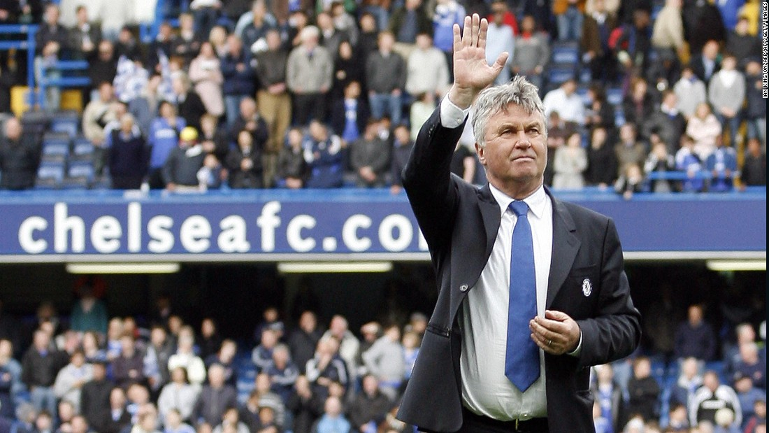 Guus Hiddink has been appointed the interim boss of Chelsea for a second time.