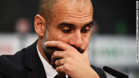 Bayern Munich coach Pep Guardiola says he will make an announcement about his future on Sunday.