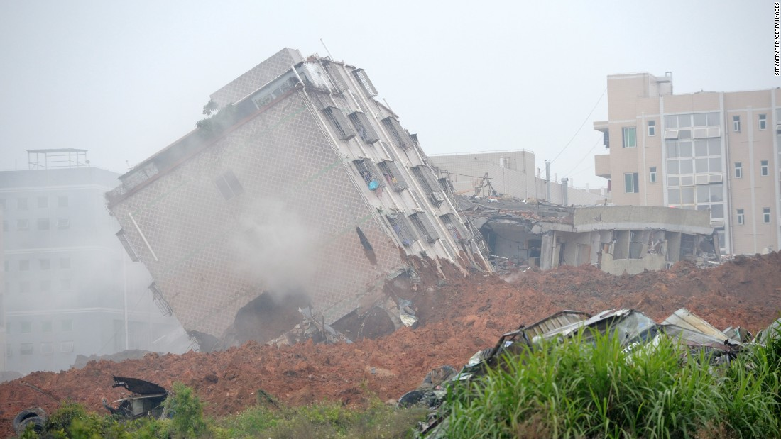 Many of the buildings at the industrial park in the city of Shenzhen were destroyed or badly damaged.