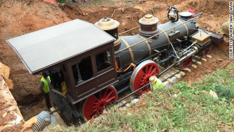 Legendary Civil War locomotive, the Texas, was an attraction at Atlanta's Cyclorama Civil War museum.