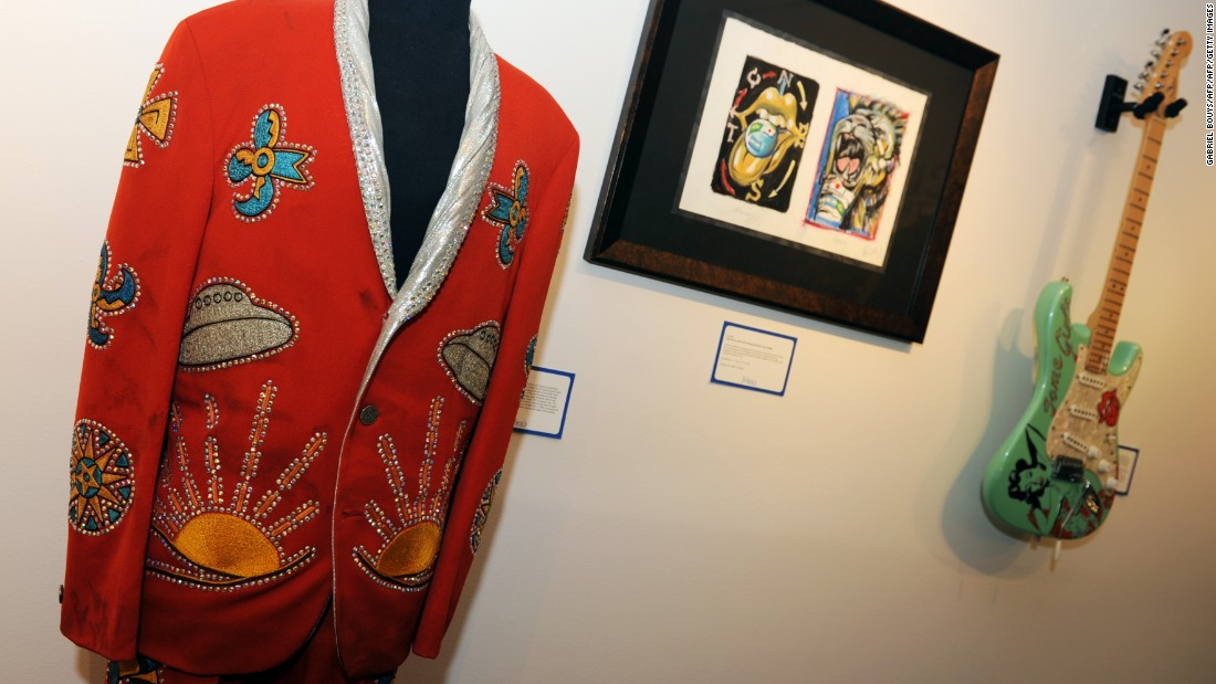 This vibrant number was worn by Keith Richards of the Rolling Stones.