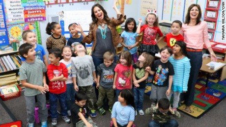 Sonya Romero inspires smiles from her 2015 kindergarten class.