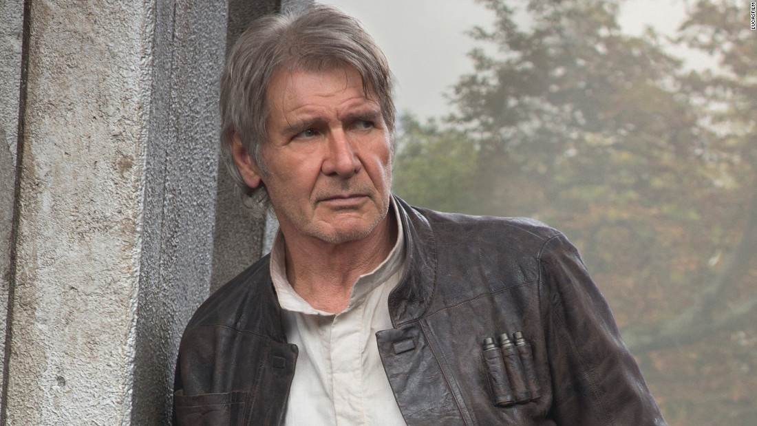 <strong>Han Solo</strong> (Harrison Ford) returns, but is he back to his smuggling ways? It's been 38 years since Ford initially starred as the scruffy looking nerf herder, and it's rumored he's the top-paid actor on the project.
