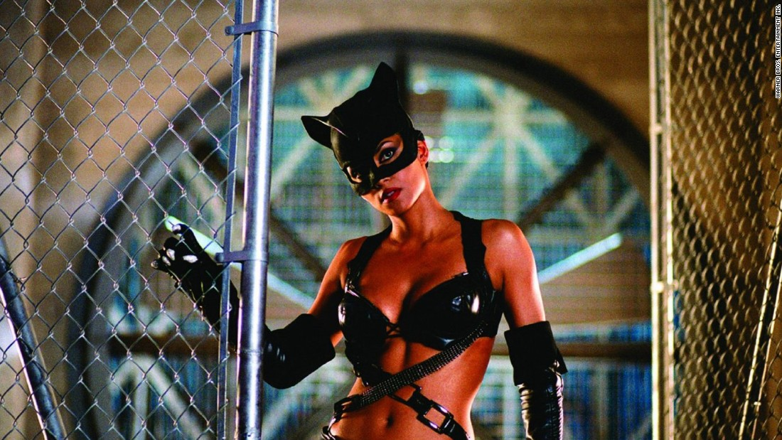 "<strong>""Catwoman""</strong>: This is one superhero film that didn't make the geeks happy. Halle Berry took it in stride and <a href=""http://www.mtv.com/news/1497569/halle-berry-slams-catwoman-at-razzie-awards/"" target=""_blank"">showed up in person to collect her Razzie for worst actress</a> for her role as Patience Phillips, a meek woman who transforms when she dons her Catwoman costume. <strong>(Netflix) </strong>"