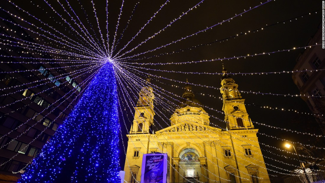 St. Stephan Basilica is the biggest church in Hungary's capital city. It also might be its most Christmas-y.