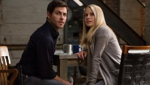 """David Giuntoli (left) as Nick Burkhardt and Claire Coffee (right) as Adalind Schade are shown in a scene from """"Grimm."""""""