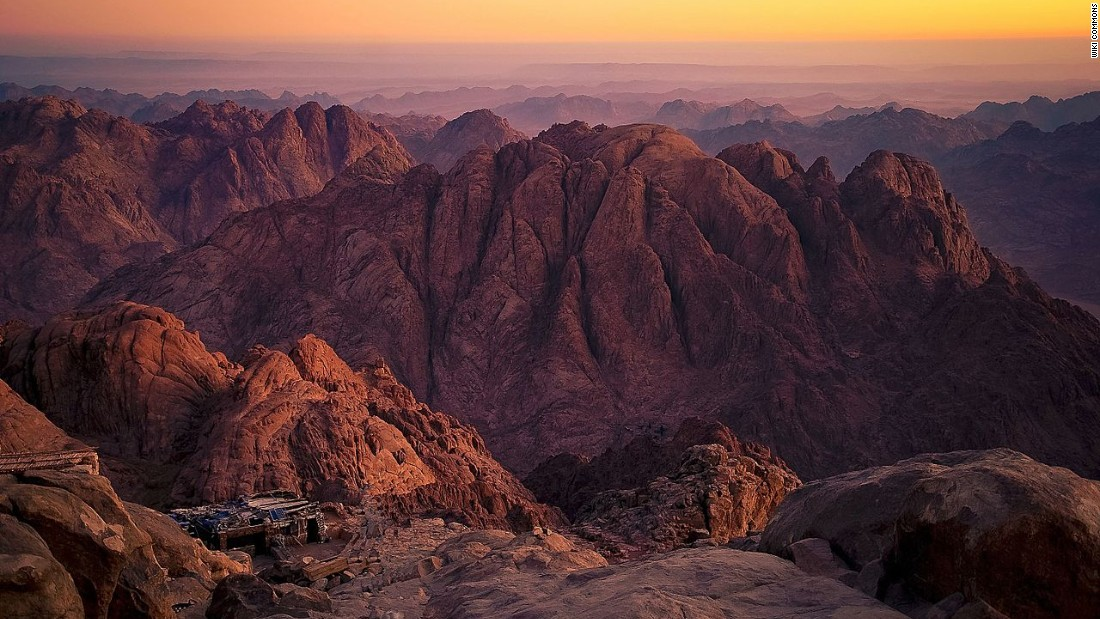 Mount Sinai, also known as Mount Moses, the site of the Ten Commandments being handed by God to Moses.