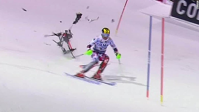 drone nearly hits skier marcel hirscher_00002516