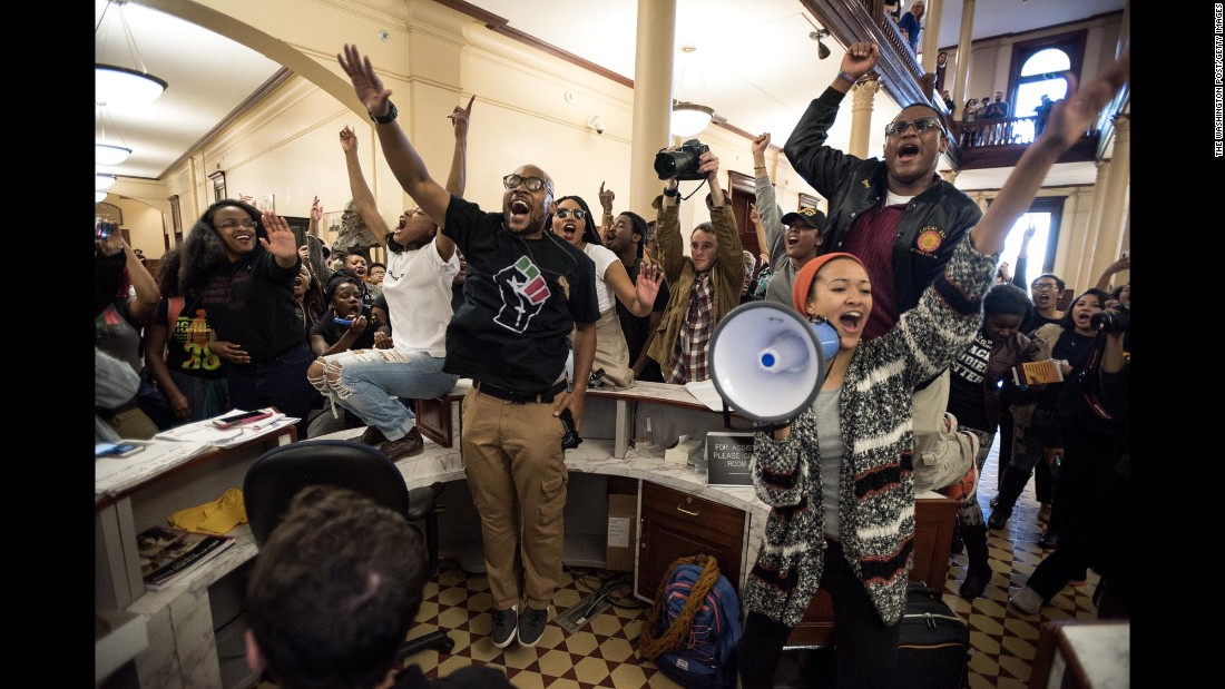 Racial tensions led to a weekslong protest movement at the University of Missouri campus that ousted both the university president and the school's chancellor.