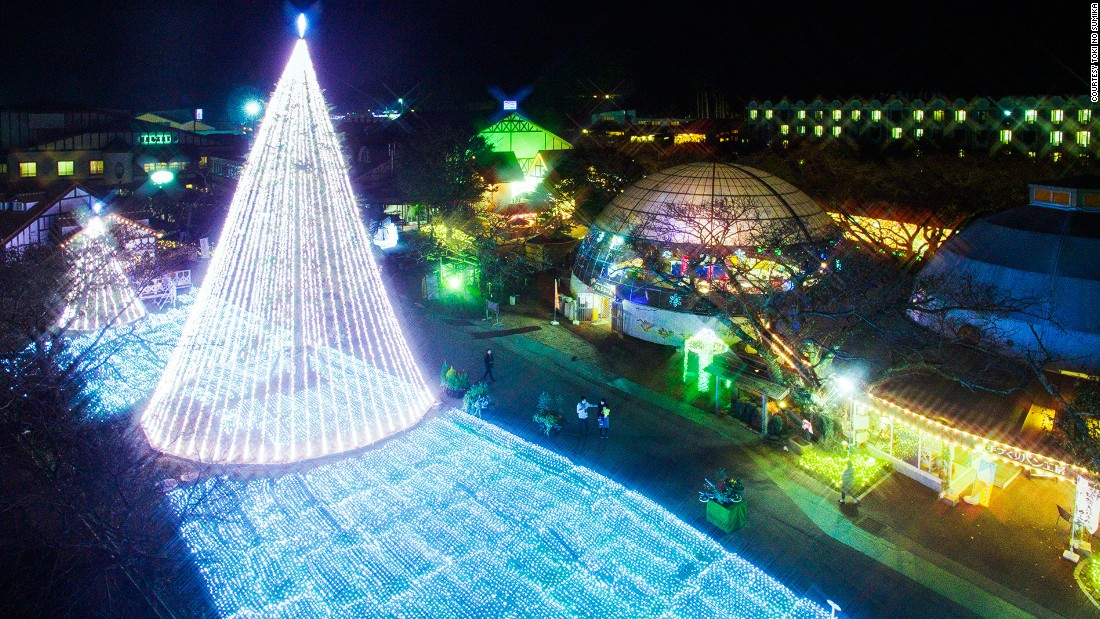 On a corner of Mt. Fuji, spa resort Toki No Sumika in the city of Gotemba puts on extravagant light show each year. This year's winter light display runs until March 21.